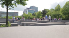 Tourismus juden-monument Berlin Stock Footage