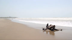 Longest Sea Beach in the World - Cox's Bazar - stock footage