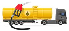 Truck semi trailer delivery and transportation of fuel for transport concept Piirros