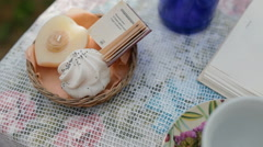 Cute rustic decor for photosesion Stock Footage