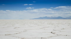 Time lapse of clouds over the Uyuni salt flats in n Bolivia Stock Footage