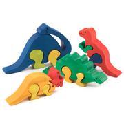 Wooden dino toys Stock Photos