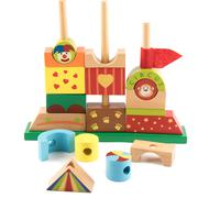 wooden toy castle - stock photo