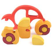 Wooden car puzzle toy Stock Photos