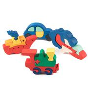 transportation wooden toys - stock photo