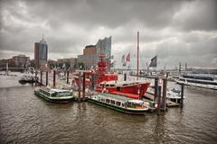 Hamburg waterways Stock Photos