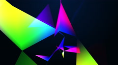 abstraction geometrical colourful composition with triangles - stock footage