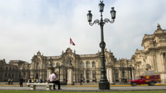 Time lapse of the presedential palace in Lima, Peru Stock Footage