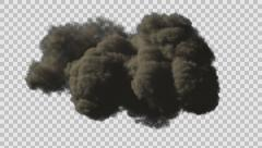 Large Scale Smoke / Dust coming towards camera with Alpha channel - stock footage