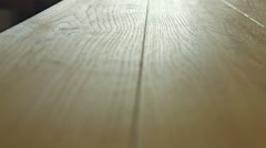 New oak parquet of brown color - dolly motion. RAW video record Stock Footage