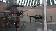 Quantico VA National Museum of the Marine Corp war aircraft HD Stock Footage