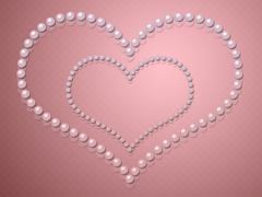Heart shape made from pearls Stock Illustration