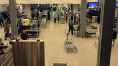 Salt Lake City TSA airport check man belt fast HD 001 Stock Footage