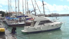 Yachts in port of Yalta Stock Footage