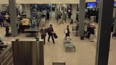 Salt Lake City TSA airport check man belt HD Stock Footage