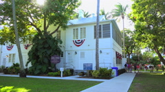 The Little White House, Key West, Florida - stock footage