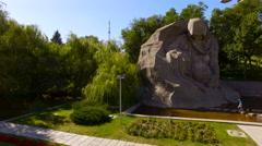 Volgograd  May 05.2015 Mamayev Kurgan  Stalingrad Stock Footage