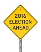 Election 2016 Roadsign - stock illustration