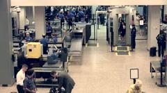 Salt Lake City TSA airport check women pat down HD Stock Footage