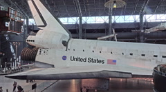 Smithsonian Air and Space shuttle Discovery display HD Stock Footage