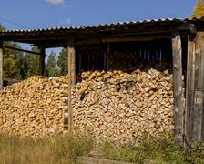 wood-shed - stock photo