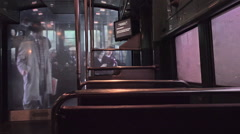 Smithsonian National Museum American History dark trolley ride HD 033 Stock Footage