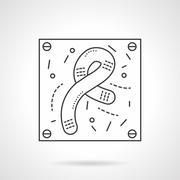 Bacilli icon flat line design vector icon - stock illustration
