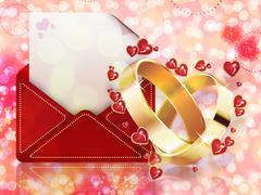 Wedding background Stock Illustration