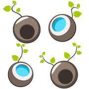 Nature tree symbol illustration - stock illustration
