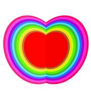 Apple colorful illustration Stock Illustration