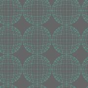 Vector seamless abstract geometric pattern. Repeating Mesh polygonal backgrou - stock illustration