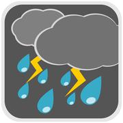 Rain storm weather illustration Stock Illustration