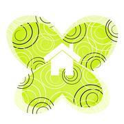 Home green illustration Stock Illustration