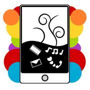 PDA phone illustration Stock Illustration