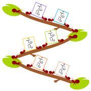 Red ants hard to do list teamwork illustration - stock illustration