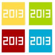 The year of 2013 illustration Stock Illustration