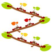 Red ants environmet teamwork illustration Stock Illustration