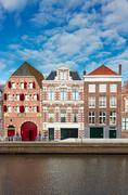 Old town of Harlem, Netherlands Stock Photos