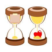 Sandglass deadline time vector Stock Illustration