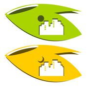 City of nature logo - stock illustration