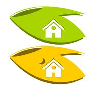 Home of nature logo - stock illustration