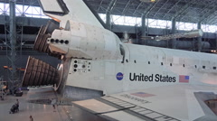 Space Shuttle Discovery on display Washington DC HD 015 Stock Footage