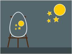 Easter egg background illustration - stock illustration