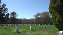 Spotsylvania Confederate Cemetery headstones HD Stock Footage