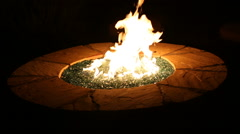 Outdoor Burning Glass Fireplace Angle - stock footage
