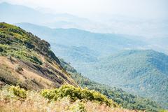 Kew mae pan nature trail at Doi Inthanon national park ,Chiangmai Thailand - stock photo