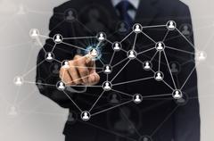 Network of people and businessman Kuvituskuvat