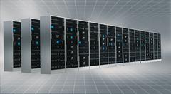 Stock Illustration of Internet Cloud server cabinet