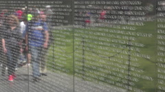 Vietnam Veterans Memorial reflection Wall HD 051 Stock Footage