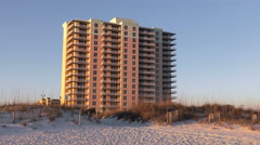 Vacation Life - Condo on a white Sandy Beach Stock Footage